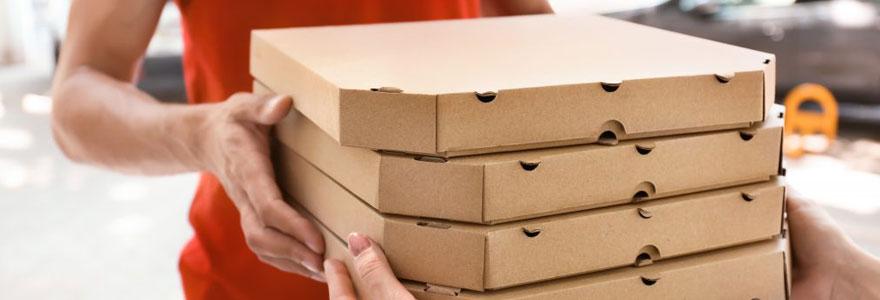 Boites alimentaires pliables pizza